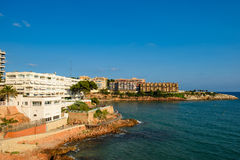 Salou with blue sky and copy space. View over Salou Costa Dorada Royalty Free Stock Image