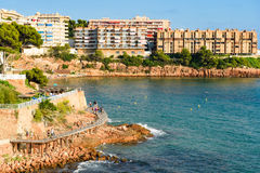 Salou with blue sky. View over the Coastline Costa Dorada, Salou Royalty Free Stock Photos