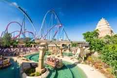 Salou, ESPAGNE - 26 août 2014 : Port Aventura de parc d'attractions image stock