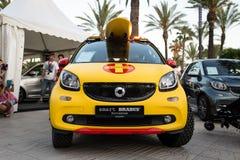 SALOU, SPAIN - JUNE 17, 2017: Smart City Coupe on a city street. Stock Photography