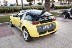 SALOU, SPAIN - JUNE 17, 2017: Smart City Coupe on a city street. Stock Photo