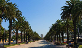 Jaime I street in Salou, Spain Stock Photos