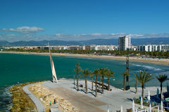 Salou - view of the seaside. In sunny morning Royalty Free Stock Photos