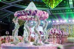 Salowa ślubna scena fotografia stock