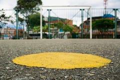 Salowej piłki nożnej pole i cel zdjęcie royalty free