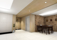 Salowy mieszkaniowy pokój Obraz Stock