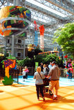 Salowy park rozrywki przy centrum handlowym Ameryka Zdjęcia Stock