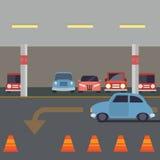 Salowy parking z samochodem ilustracja wektor