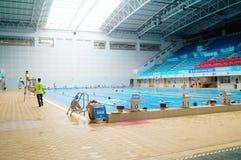 Salowy Pływacki basen Zdjęcia Royalty Free