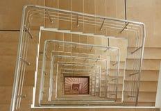 Salowy schody w kwadrat spirali Obrazy Royalty Free
