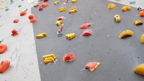 Salowy Wspinaczkowy gym ściany szczegółu zakończenie up zdjęcie wideo