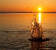 Salpica del agua Fotografía de archivo libre de regalías