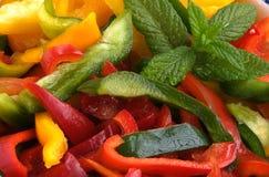 Salpica a salada Imagem de Stock