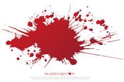 Salpicadura abstracta de la sangre aislada en el fondo blanco, DES del vector ilustración del vector
