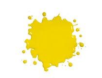 Salpicadura amarilla de la pintura Imágenes de archivo libres de regalías