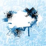 Salpicadura azul de la pintura de la pintada stock de ilustración