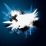 Salpicadura azul de la pintura del ala ilustración del vector