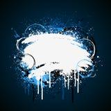 Salpicadura blanca y azul de la pintura stock de ilustración