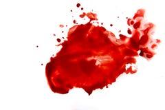 Salpicadura de la mancha de la sangre imagenes de archivo