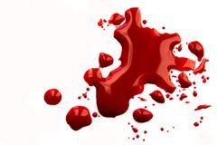 Salpicadura de la sangre imagenes de archivo