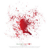 Salpicadura de la sangre aislada en el fondo blanco, libre illustration