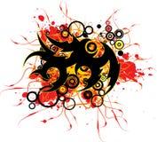 Salpicadura del tatuaje Foto de archivo libre de regalías