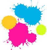 Salpicaduras coloridas stock de ilustración