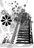 Salpicaduras de Grunge de la ciudad Foto de archivo libre de regalías