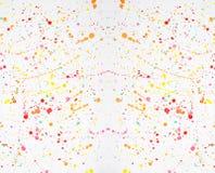 Salpicaduras de la acuarela Salpicadura del extracto multicolora en el fondo blanco stock de ilustración