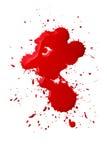 Salpicaduras de la sangre Fotografía de archivo