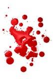 Salpicaduras de la sangre Imágenes de archivo libres de regalías