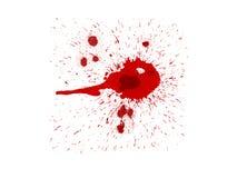 Salpicaduras de la sangre Foto de archivo libre de regalías