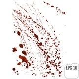 Salpicaduras de la sangre en blanco stock de ilustración