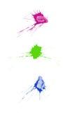 Salpicaduras de la tinta Imagenes de archivo