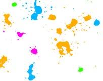 Salpicaduras de la tinta del color Imagen de archivo libre de regalías