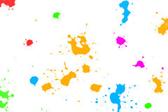 Salpicaduras de la tinta del color Fotografía de archivo
