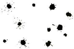 Salpicaduras del negro Foto de archivo