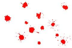 Salpicaduras del rojo Foto de archivo libre de regalías