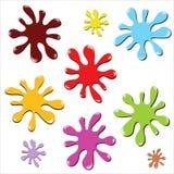Salpicaduras mojadas fijadas - vector del EPS Imagen de archivo libre de regalías