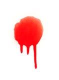 Salpicaduras rojas de la pintura del espray Fotos de archivo