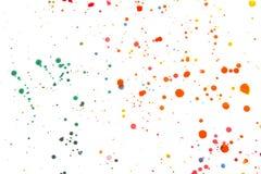 Salpicaduras y puntos de la pintura acrílica para el fondo Imágenes de archivo libres de regalías