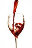 Salpicar el vino Foto de archivo libre de regalías