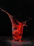 Salpicar la bebida Imagen de archivo libre de regalías