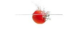 Salpicar los tomates Imágenes de archivo libres de regalías