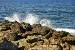 Salpicar ondas Imagen de archivo