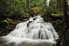 Salroc Falls. One of the waterfalls in the Appalachia Falls chain in Randolph, New Hampshire, part of the White Mountain National Forest royalty free stock image
