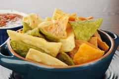 salsa τσιπ Στοκ εικόνα με δικαίωμα ελεύθερης χρήσης