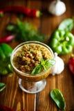 Salsa aguda del adzhika de diversos tipos de pimienta Fotos de archivo