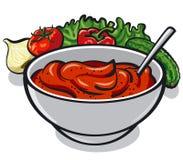 Salsa al pomodoro casalinga illustrazione di stock