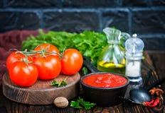 Salsa al pomodoro casalinga Fotografia Stock Libera da Diritti